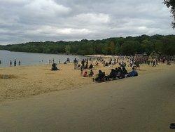 Ruislip Lido Beach.