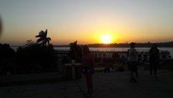 O Pôr do Sol no Templo de Kom Ombo