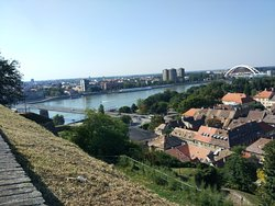 View of Petrovaradin, Danube and Novi Sad from the fortress