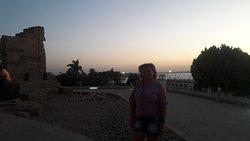 A linda vista a partir do Templo de Kom Ombo
