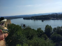 Danube view from the walls of the fortress