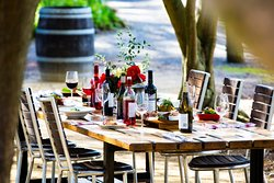 long table in the Olive Grove