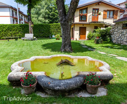 Garden at the Albergo Ristorante La Torre