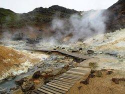 Geothermal area krysuvik
