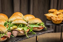 Beef Sliders and Meat Pie