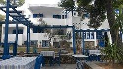 L'hotel visto dalla taverna