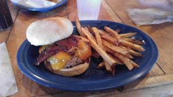 Prairie Fire Burger (minus lettuce and such)
