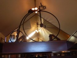 An original Penny Farthing on display