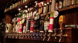 39 beers on tap and 144 bottles Try the 3 Floyds!