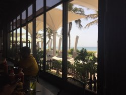 Afternoon Views of the sea from the restaurant