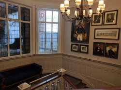 Beautiful staircase, kept the historic charm and added some modern touches.
