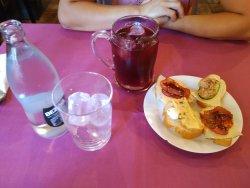 bebida del menu con tapa