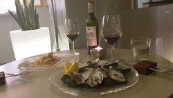 Entrees (Oysters & Salmon Carpaccio)