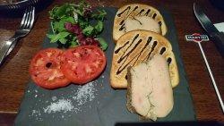 L'entrée excellent foie gras