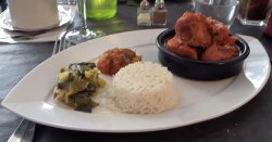 Tasty pork with rice