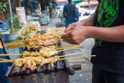 Moo Satay at the most famous restaurant in Chiang Mai!