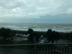 Loved the view of the ocean waves crashing from the balcony