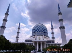 Moschea blu di Shah Alam (Moschea Sultan Salahuddin Abdul Aziz Shah)