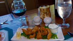 Walleye fingers with dill dip