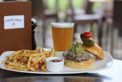 Burger on the Patio!