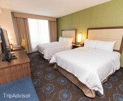 The Harbor View Double Queen Room at the Hampton Inn by Hilton Halifax Downtown