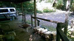 View of front porch from side deck