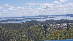 View of Salamander Bay from Gan Gan Hill Lookout