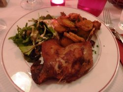 Confit of duck, sarladaise style sautee potatoes