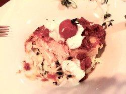 Lachs mit Kartoffelpüree - Spinat mit Salsa von Tomaten und Zitronengras mit Minze Joghurt