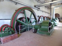 Steam engine for cold rolling mill