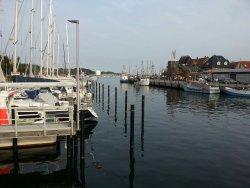 Der Blick von dem Restaurant in Richtung Hafen 👌