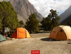 Travelling with tents allows greatest flexibility, donkeys carry the tents
