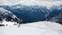 Snowshoeing at Sunshine Meadows