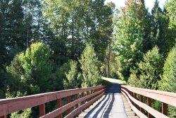 Bridge across to the 4th hole - over ravine