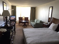 Spacious room with sea view