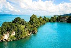 Los Haitises National Park aerial view.