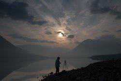 Плато Путорана, озеро Лама, рассвет