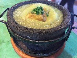 Queso Oaxaca en salsa verde