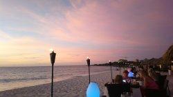 Zonsondergang aan de zee