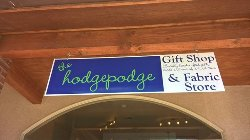 Crafts and Fabric available at the new Hodgepodge.