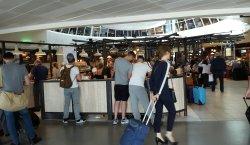 Airport bar.
