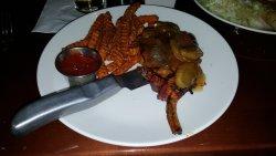 The Whiskey Pork Chop is phenomenal
