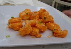 the crispy Shaka Shrimp dish