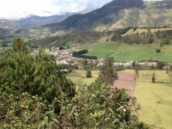 Village of Nono, Ecuador, from the scenic overlook.