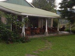 The verandah where meals were served