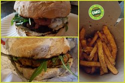 Customised Burgers and 3 different Fries.....