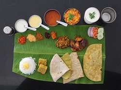 Annapurneshwari Restaurant Banana Leaf Serving