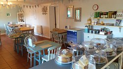 Lots of lovely homemade cakes & cosy seating on these chilly Autumnal mornings