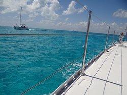 from catamaran trip