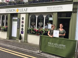 The Lemon Leaf Cafe with a special delivery - our 2016 Customer Excellence Award